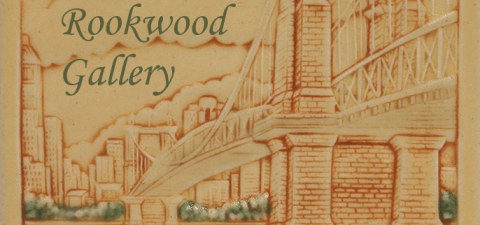 Close-Up of Roebling Bridge Rookwood Tile