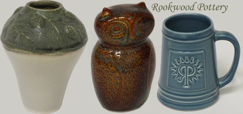 Samples of Rookwood Pottery